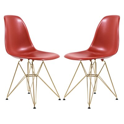 Schmertz Molded Dining Chair Color: Red