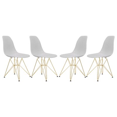 Sikes Molded Dining Chair Color: White