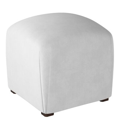 Mccaulley Cube Ottoman Body Fabric: Velvet White