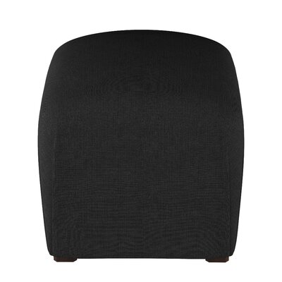 Mccaulley Cube Ottoman Body Fabric: Linen Black