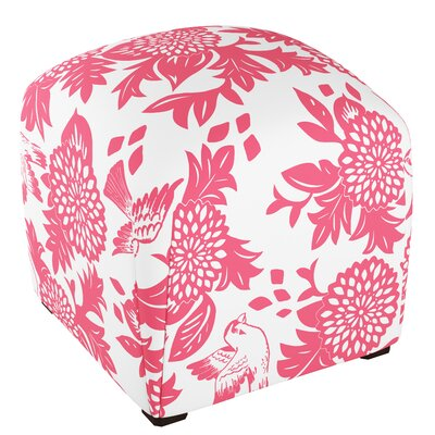 Mccaulley Cube Ottoman Body Fabric: Garden Bird Pink