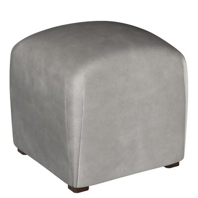Mccaulley Cube Ottoman Body Fabric: Velvet Steel Gray