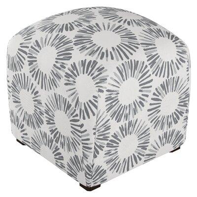 Mccaulley Cube Ottoman Body Fabric: Medallion Light Gray
