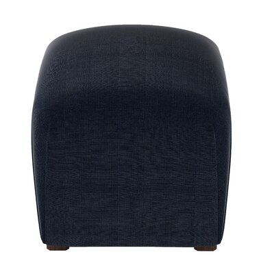 Mccaulley Cube Ottoman Body Fabric: Linen Navy