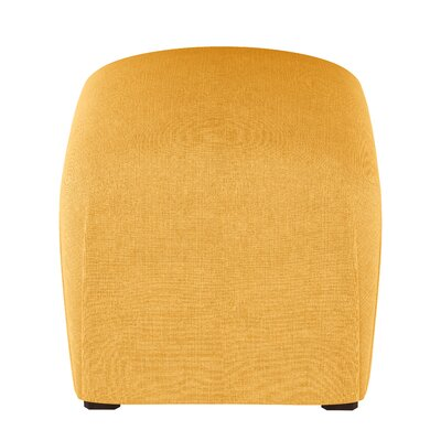 Mccaulley Cube Ottoman Body Fabric: Linen French Yellow