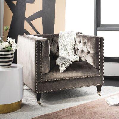 Folcroft Tufted Velvet Armchair
