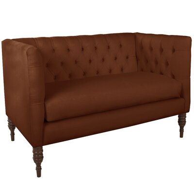 Pridmore Tufted Settee Body Fabric: Premier Chocolate