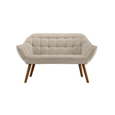 Dostie Modern Tufted Loveseat Upholstery: Beige