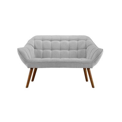 Dostie Modern Tufted Loveseat Upholstery: Light Gray