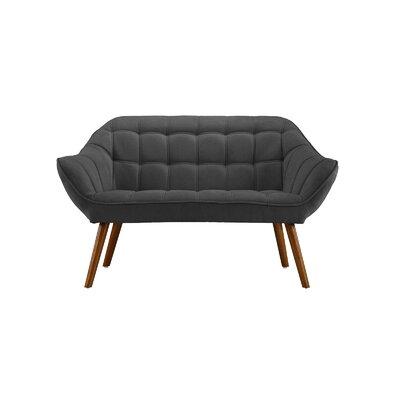 Dostie Modern Tufted Loveseat Upholstery: Dark Gray