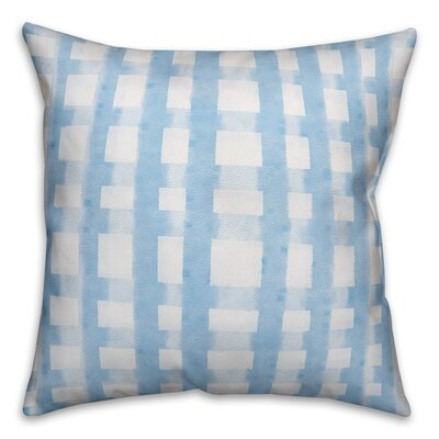 Hubbert Watercolor Check Throw Indoor/Outdoor Pillow Location: Indoor