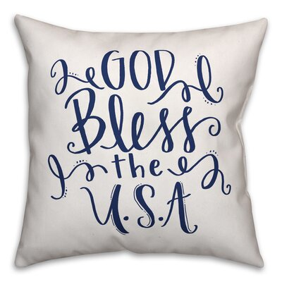 Hubble God Bless the USA Indoor/Outdoor Throw Pillow Location: Outdoor