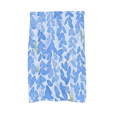 Quarterman Bell Floral Hand Towel Color: Light Blue