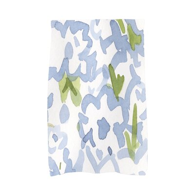 Jasso Floral Hand Towel Color: White