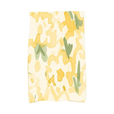 Jasso Floral Hand Towel Color: Yellow