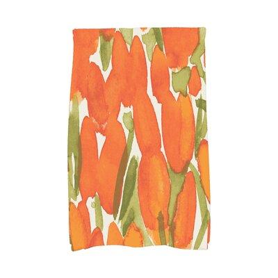 Quast Tulip Floral Hand Towel Color: Orange