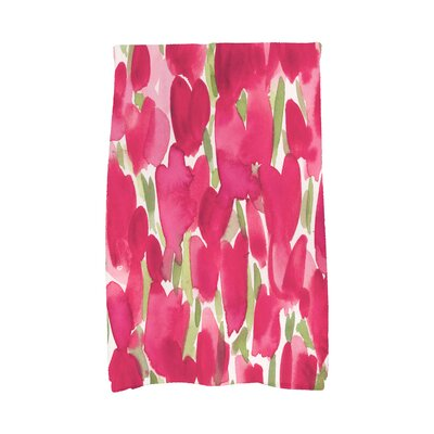 Holte Floral Hand Towel Color: Red