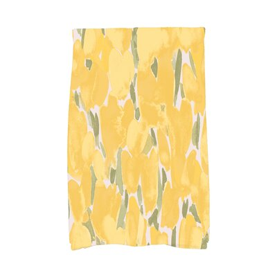 Holte Floral Hand Towel Color: Yellow