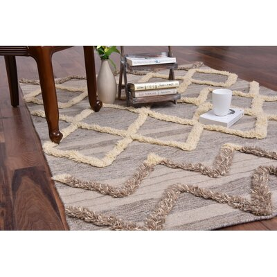 Omalley Hand-Woven Beige Area Rug Rug SIze: Rectangle 8 x 10