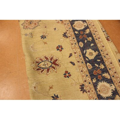 Xenos Transitional Hand-Knotted Wool Gold/Blue Area Rug