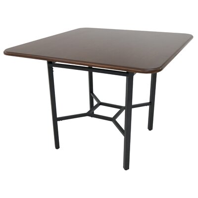 Oettinger Gathering Pub Table Color: Dark Brown, Size: 48 W x 48 D