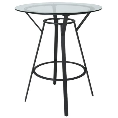 Warfield Pub Table Color: Satin Black, Size: 41.37 H x 36 W x 36 D