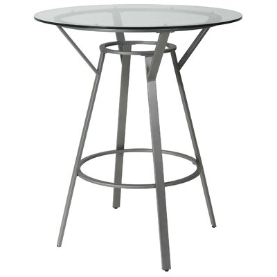 Warfield Pub Table Color: Nickel, Size: 35.62 H x 36 W x 36 D