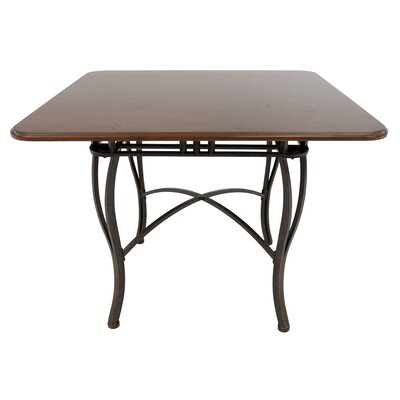 Alton Pub Table Color: Bronze Autumn Rust/Light Brown Tudor, Size: 37 H x 48 W x 48 D