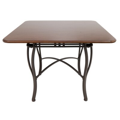 Alton Pub Table Color: Brown Buckskin, Size: 41.25 H x 48 W x 48 D