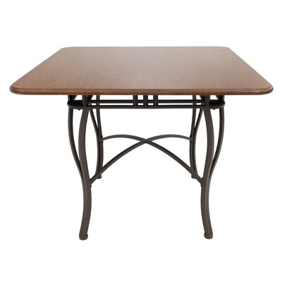 Alton Pub Table Color: Matt Brown Bronze/Light Brown Tudor, Size: 37 H x 48 W x 48 D