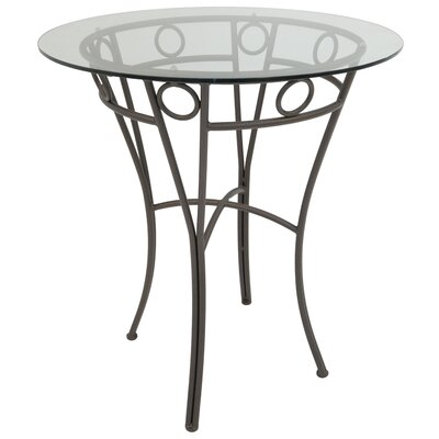 Campos Pub Table Color: Matt Brown Bronze, Size: 36.87 H x 36 W x 36 D