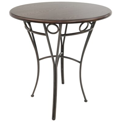 Campos Pub Table Color: Bronze Autumn Rust/brown Walnut, Size: 41 H x 36 W x 36 D