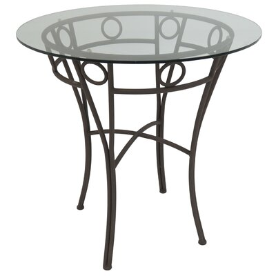 Campos Pub Table Color: Bronze Autumn Rust, Size: 36.87 H x 36 W x 36 D