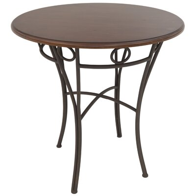 Campos Pub Table Color: Matt brown Bronze/brown Buckskin, Size: 41 H x 36 W x 36 D