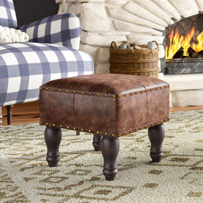 Serena Ottoman Upholstery: Brown