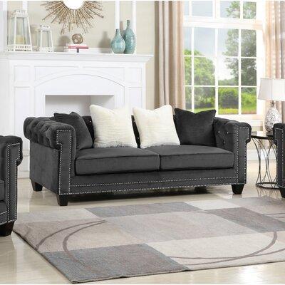 Insley Living Room Standard Sofa Upholstery: Black
