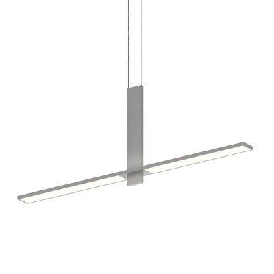 Planes Intersecting 2-Light LED Kitchen Island Pendant Finish: Bright Satin Aluminum