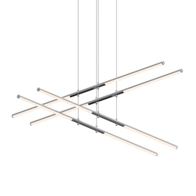 Tik-Tak Stack 8-Light LED Geometric Pendant Finish: Polished Chrome