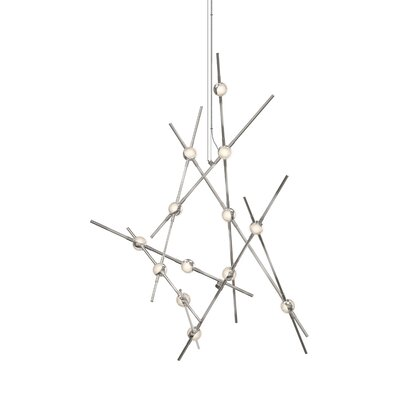 Constellation 13-Light LED Aquila Minor Geometric Pendant Shade Color: Clear Faceted Acrylic
