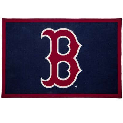 MLB Boston Red Sox Red/Blue Area Rug