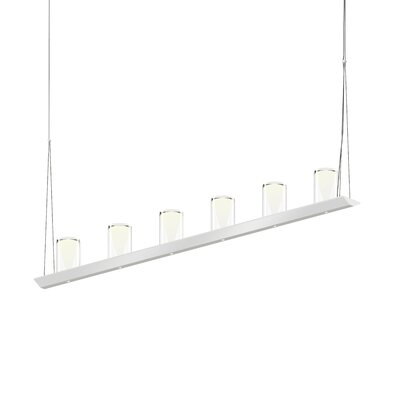12-Light LED Kitchen Island Pendant Finish: Bright Satin Aluminum