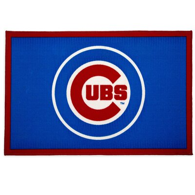 MLB Chicago Cubs Blue/Red Area Rug