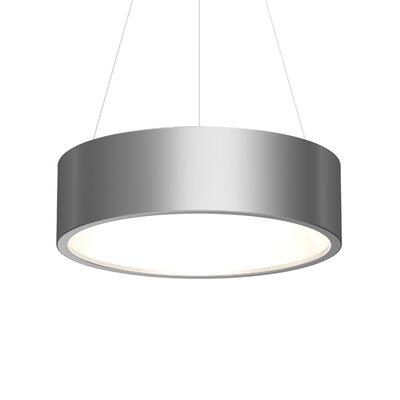 Tromme 1-Light LED Drum Pendant Shade Color: Bright Satin Aluminum