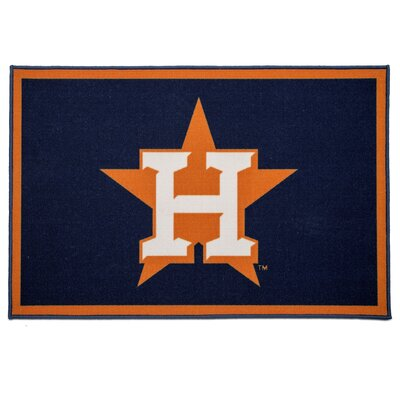 MLB Houston Astros Blue/Orange Area Rug