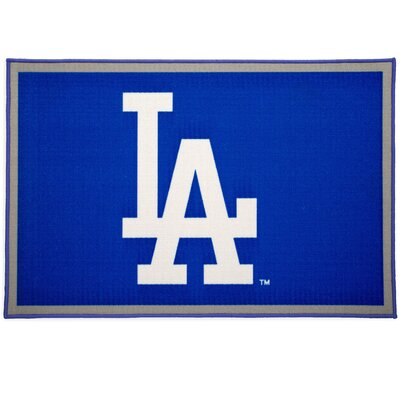 MLB Los Angeles Dodgers Blue/Gray Area Rug