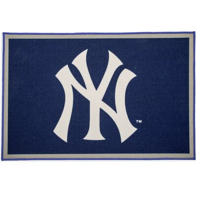 MLB New York Yankees Blue/Gray Area Rug