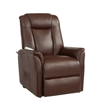 Wilson Power Lift Assist Recliner Color: Cognac
