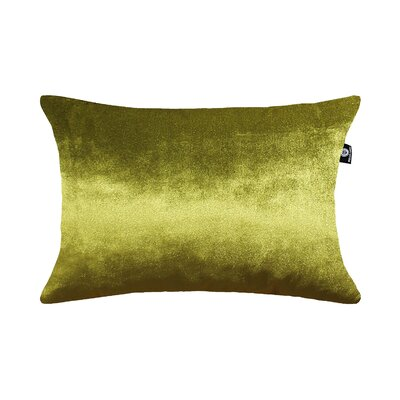 Delrick Luster Lumbar Pillow Color: Olive Green