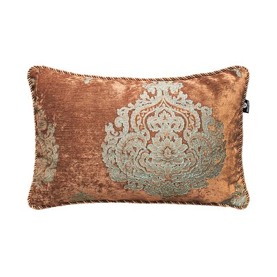 Delrick Court Jacquard Pillow Cover Color: Brown/Blue