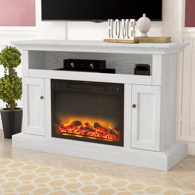 Broncho Modern Electric Fireplace TV Stand Finish: White